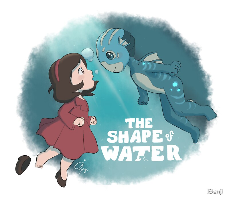 Quot Ponyo The Shape Of Water Quot Stickers By L8enji Redbubble