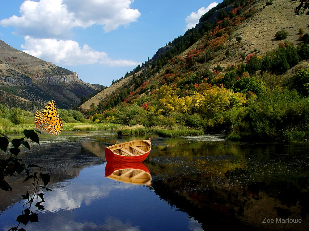 September Afternoon On The River by Zoe Marlowe