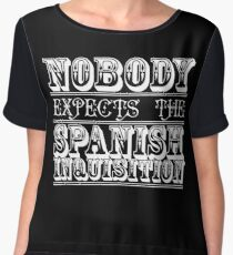 Nobody expects the spanish inquisition | Best of British Cult TV | Monty Python Women's Chiffon Top