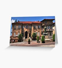 Municipal Hall and Square, Bra Piedmont Italy Greeting Card