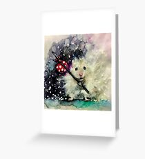 Lil' Hobo Hamster  Greeting Card