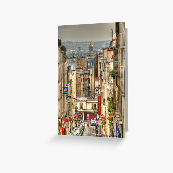 Parisian View from Montmartre Greeting Card