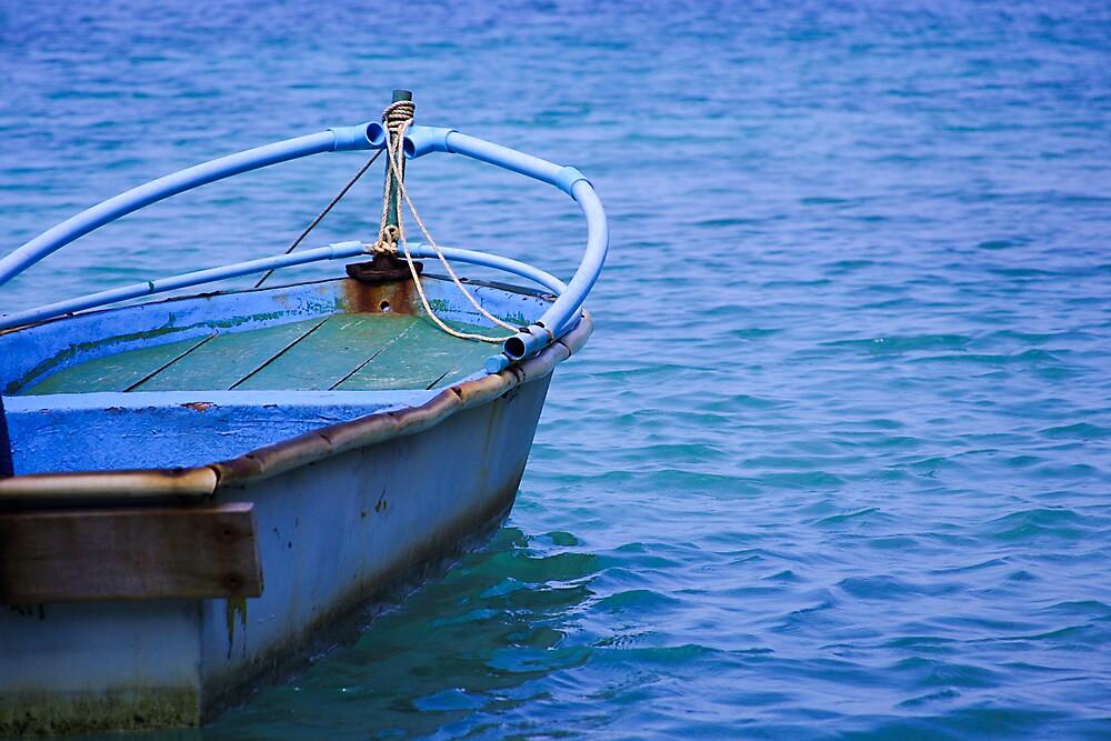 Blue Thai Boat by Jeff Harris