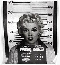 Marilyn Monroe Mugshot Poster