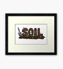 Soil my stress relief Framed Print