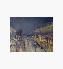 Camille Pissarro - Montmartre at Night Art Board