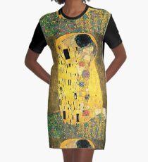 The Kiss - Gustav Klimt Graphic T-Shirt Dress