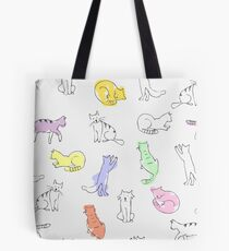 Playing cats drawing Tote Bag