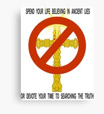 BAN RELIGION Canvas Print