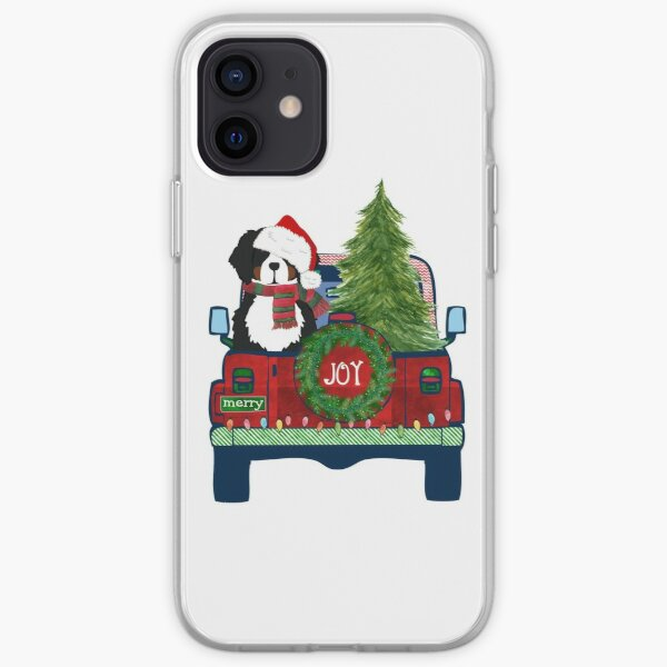 Cute Bernese Mt Dog Christmas Jeep Berner Puppy iPhone Soft Case