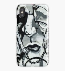 Sad Graffiti Face iPhone Case/Skin