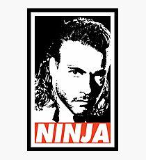Ninja Van Damme Photographic Print