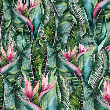 Tropical Banana Leaf Print by crazycanonmom