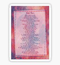 Gibb's Rules NCIS Sticker