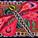 Dragonfly Magic Mythic Animal  by Susan  Detroy