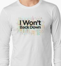 I Won't Back Down, Tom Petty, Word Cloud Design, Won't Back Down, text, words T-Shirt