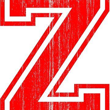 Big Red Letter Z by adamcampen