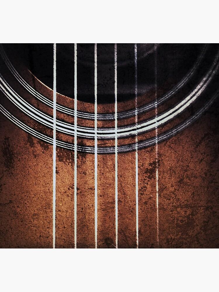 Guitar Phone Wallet by goldenyakstudio