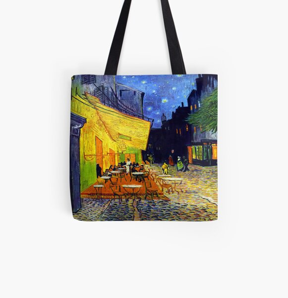 Cafe Terrace at Night - Van Gogh All Over Print Tote Bag