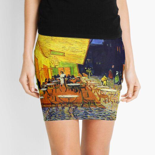 Cafe Terrace at Night - Van Gogh Mini Skirt
