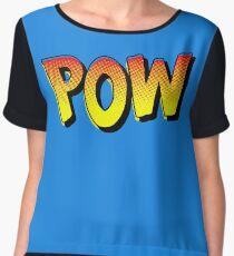 Comic Book Pow! (Orange Edition) Women's Chiffon Top
