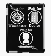 SuperWhoLock - White iPad Case/Skin