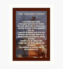 Navy Sailor Creed Poster Art Print
