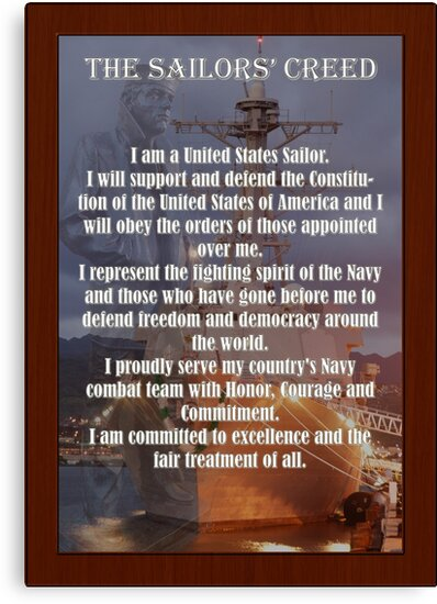 navy sailor creed poster by mcdesign