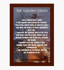 Lámina fotográfica Cartel del marinero del marinero de la marina de guerra