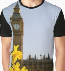 Big Ben with Daffodils Graphic T-Shirt