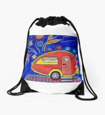 Happy Camper Drawstring Bag