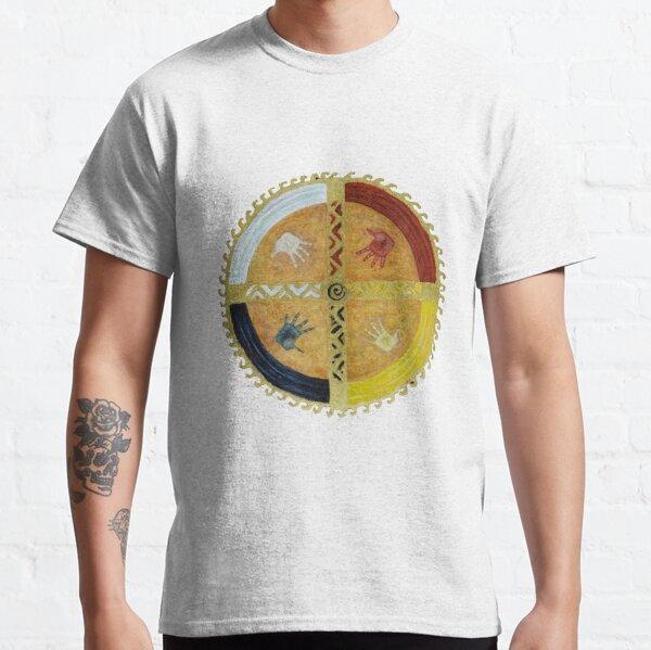 Healing Hands Medicine Wheel Camiseta clásica