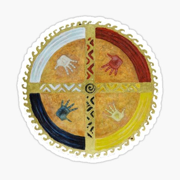 Healing Hands Medicine Wheel Sticker