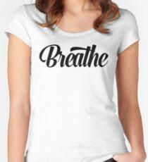 Breathe Zen Meditation Yoga Women's Fitted Scoop T-Shirt