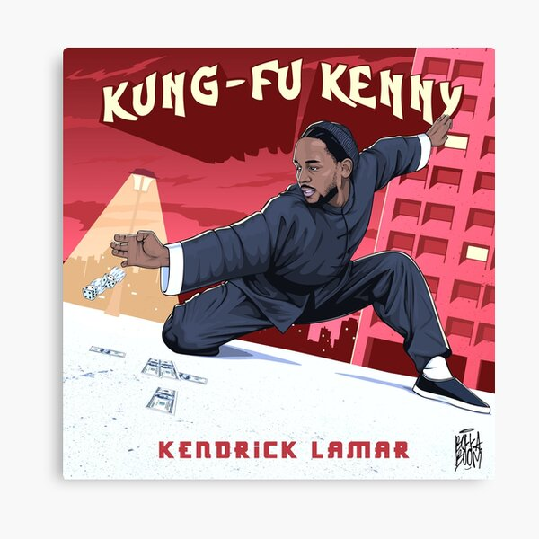 Kung Fu Kenny - without white line Canvas Print
