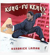 Póster Kung Fu Kenny - sin línea blanca