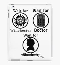 SuperWhoLock - Black iPad Case/Skin