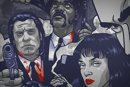 Vincent Vega,Marsellus Wallace, Mia Wallace by mcache