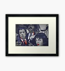 Vincent Vega,Marsellus Wallace, Mia Wallace Framed Print