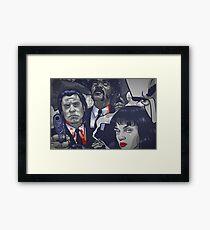 Vincent Vega,Marsellus Wallace, Mia Wallace Framed Print