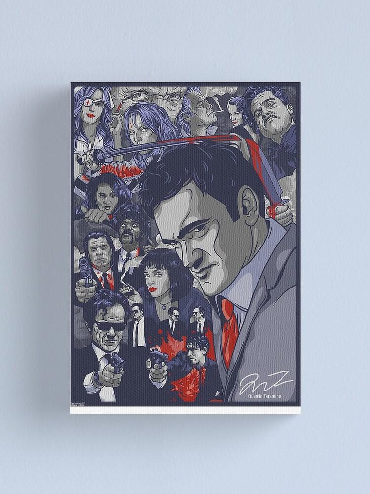 Alternate view of Quentin Tarantino Filmography Canvas Print