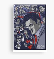 Quentin Tarantino Filmography Canvas Print