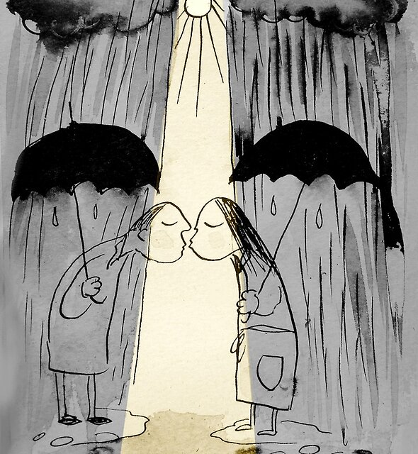 a little sunshine by Loui  Jover