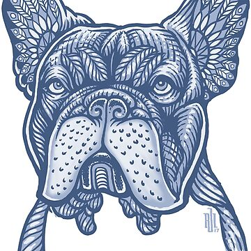 Frenchie French Bulldog Mandala style by RobertoJL