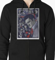 Quentin Tarantino Filmography Zipped Hoodie
