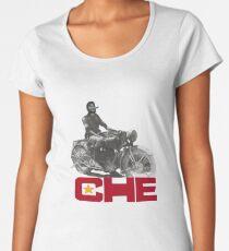 CHE GUEVERA MOTORCYCLE Women's Premium T-Shirt