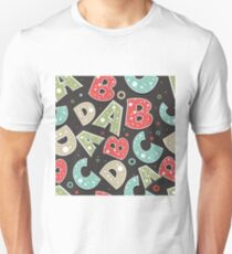 English Letters Back to School Pattern Unisex T-Shirt