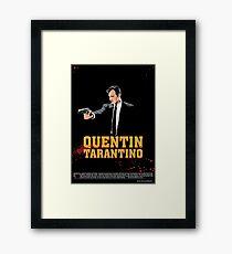 Tarantino Biography Poster Framed Print