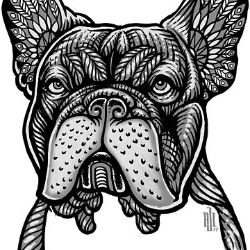 Frenchie French Bulldog Mandala style variant by RobertoJL