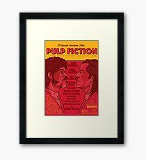 Marsellus y Vincent, Pulp Fiction cartel Framed Print